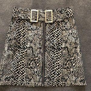 Topshop snakeprint mini skirt